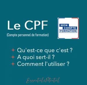 Le CPF (Compte personnel de formation)